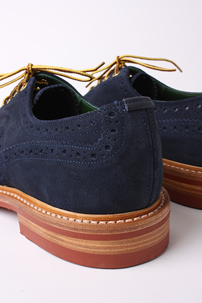 TRICKER'S FOR SCOUT - MIDNIGHT BLUE SUEDE DERBY BROGUE