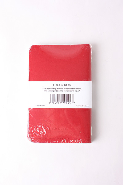 FIELD NOTES - 3 PACK RED BLOODED LIMITED EDITION
