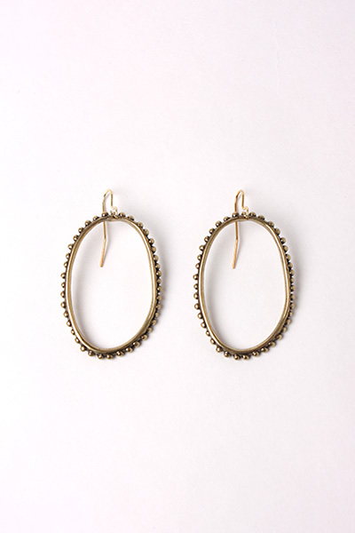 DREAM COLLECTIVE - LARGE OVAL BEADED EARRINGS