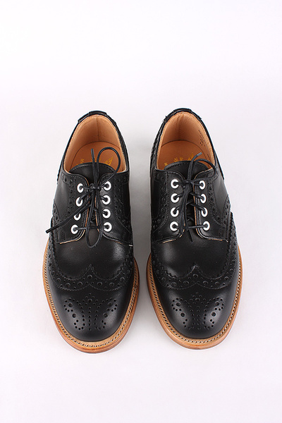 MARK MCNAIRY - LADIES BLACK WAX COUNTRY BROGUE